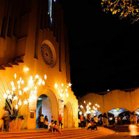 Baclaran Church during Simbang Gabi in Manila, Philippines