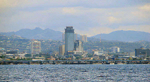 Cebu City viewed from the sea